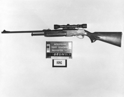 James Earl Ray's Remington Gamemaster 30-06. via the National Archives.